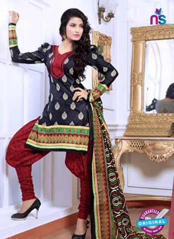NS10084 Black and Red Cotton Suit