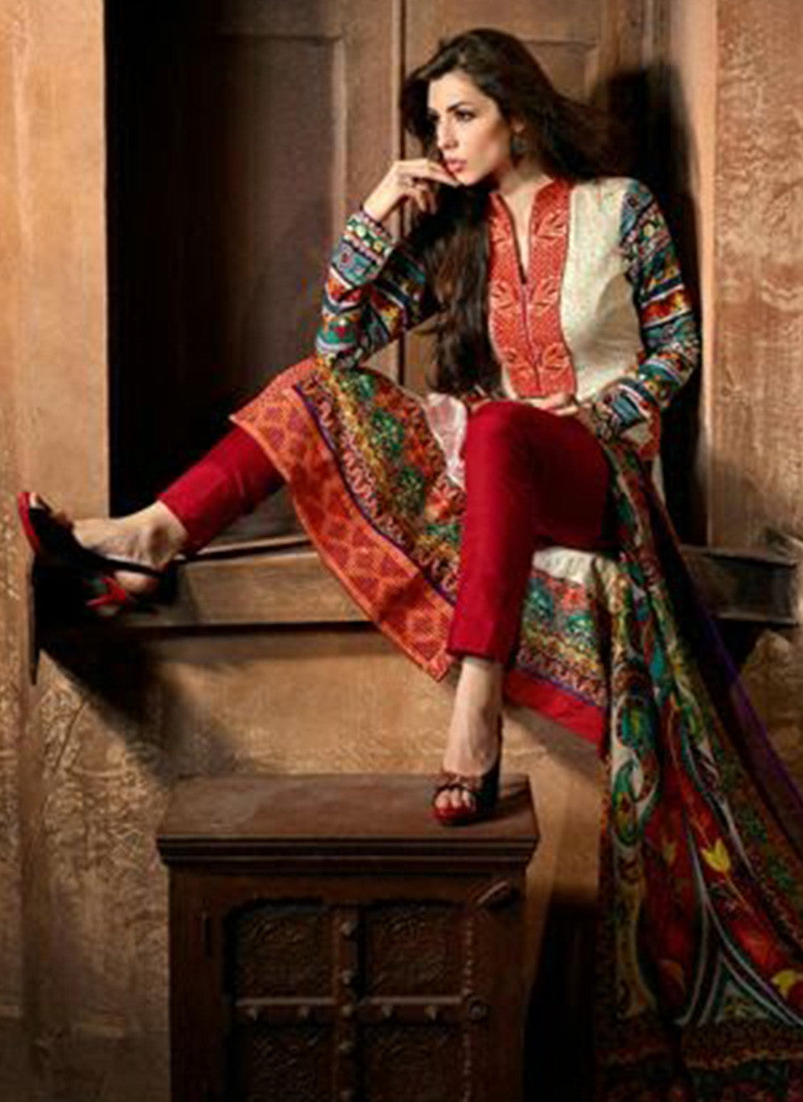Mohini 401A  Red Color Georgette Designer Suit