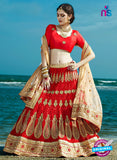 AZ 2213 Red Dupion Silk Embroidered Party Wear Lehenga