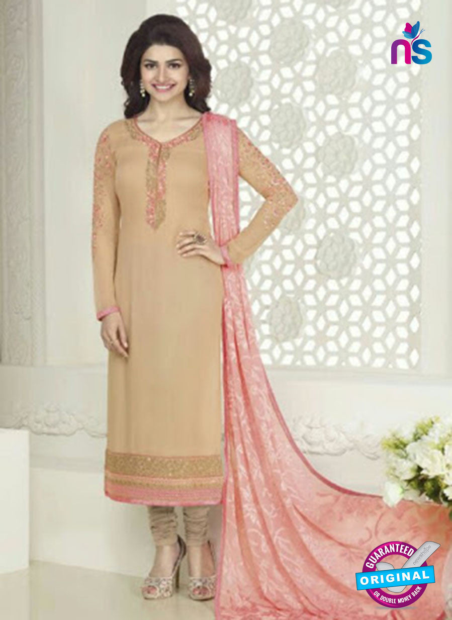 Vinay Fashion 4023 Beige Designer Georgette Party Wear Straight Suit