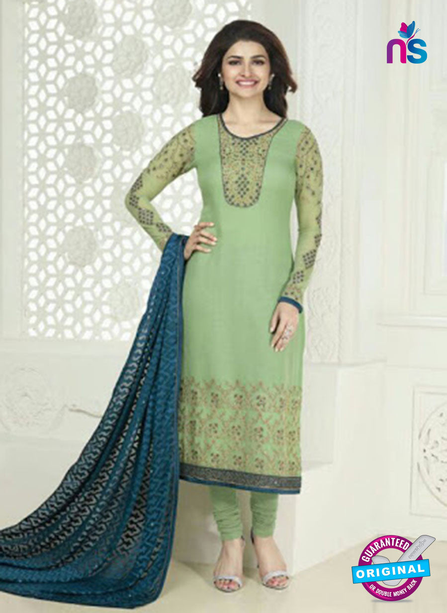 Vinay Fashion 4024 Green and Blue Designer Georgette Party Wear Straight Suit