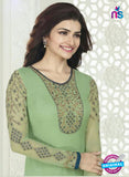 Vinay Fashion 4024 Green and Blue Designer Georgette Party Wear Straight Suit Online
