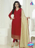 Vinay Fashion 4025 Red and Golden Designer Georgette Party Wear Straight Suit