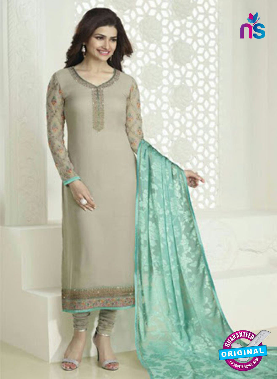Vinay Fashion 4026 Grey and Sea Green Designer Georgette Party Wear Straight Suit