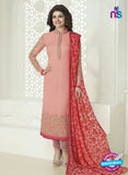 Vinay Fashion 4027 Pink and Red Designer Georgette Party Wear Straight Suit