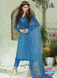 SC 13921 Blue Glace Cotton Exclusive Pakistani Straight Suit