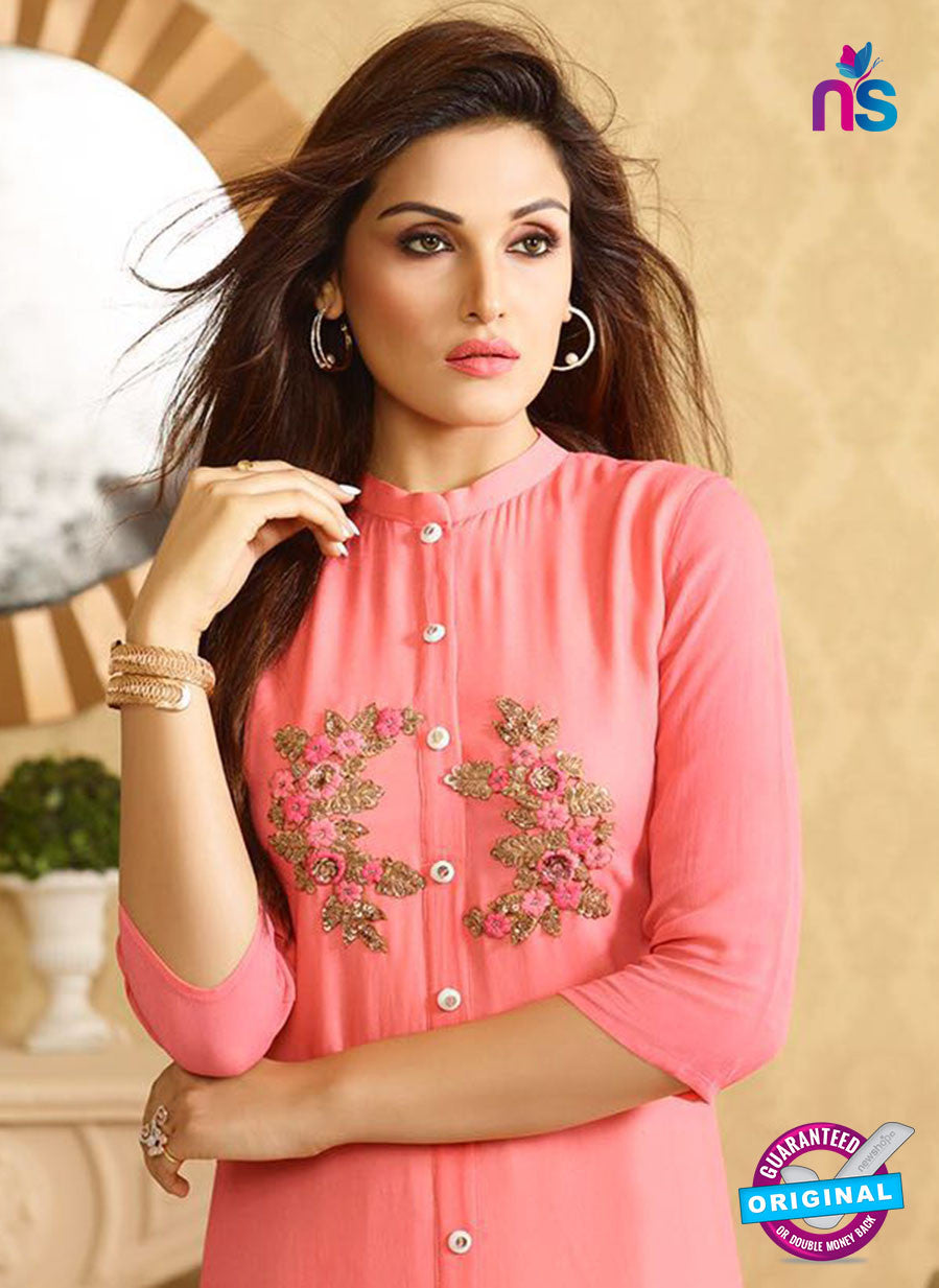 LT 402 Peach Designer Fancy Exclusive Party Wear Stitched Kurti