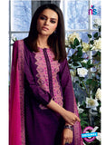 Ganga 4034 Purple and Pink Color Cotton Designer Straight Suit