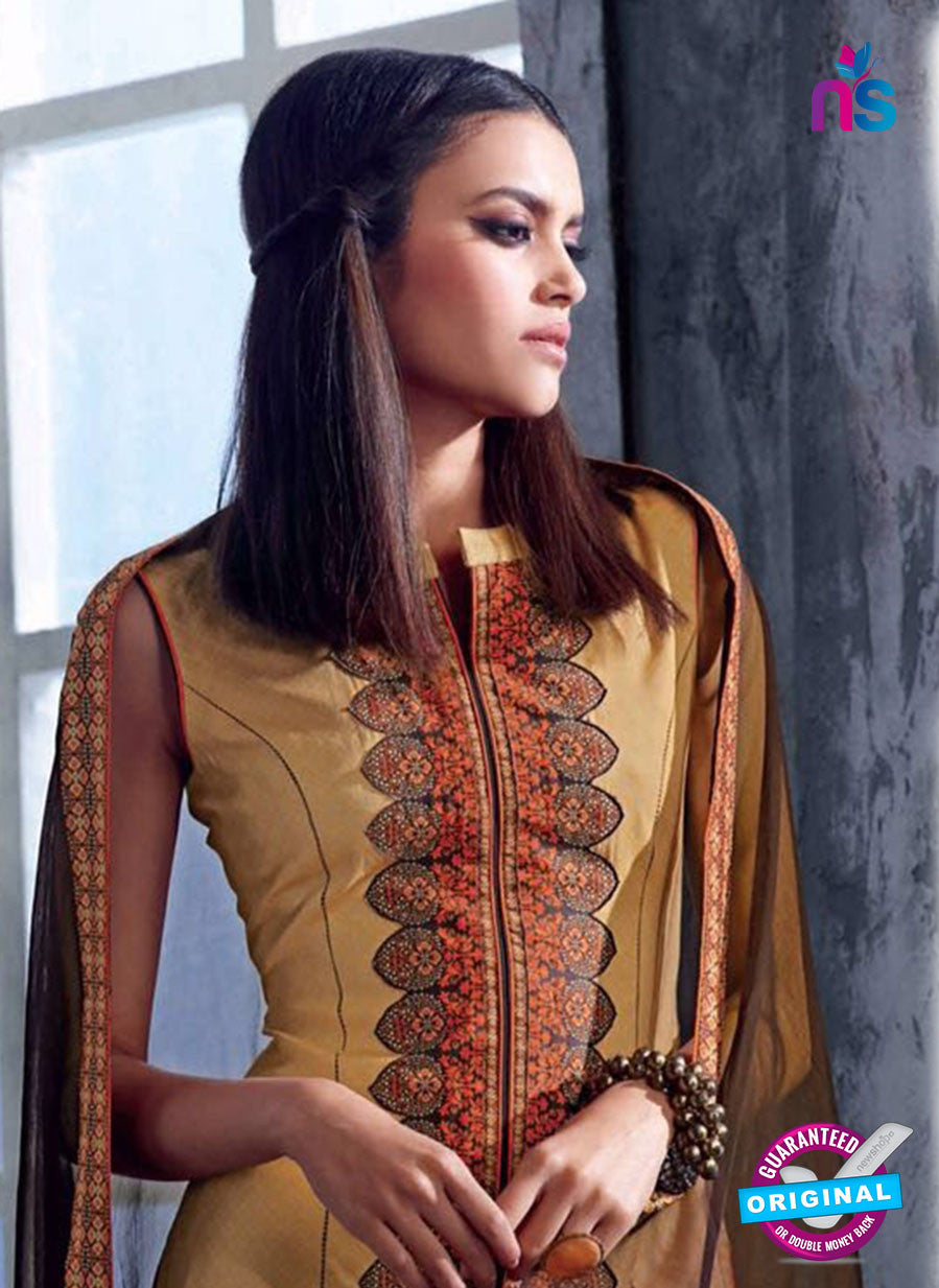 Ganga 4035 Yellow Color Cotton Designer Straight Suit