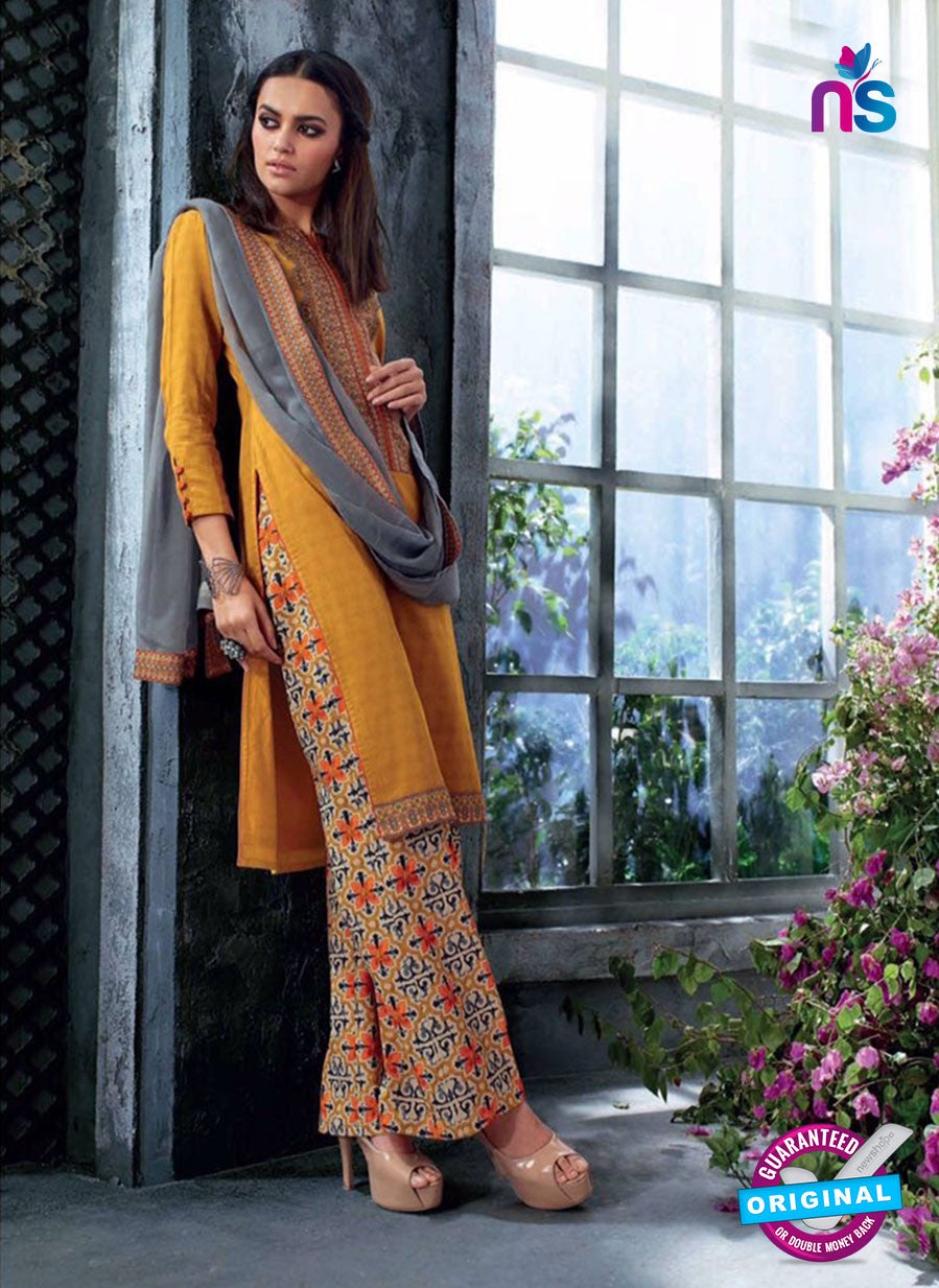 Ganga 4039 Yellow and Multicolor Cotton Designer Straight Suit