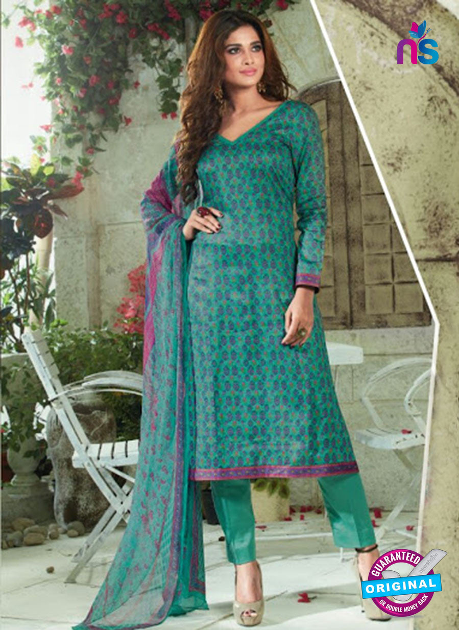 SC 13922 Sea Green Glace Cotton Exclusive Pakistani Straight Suit