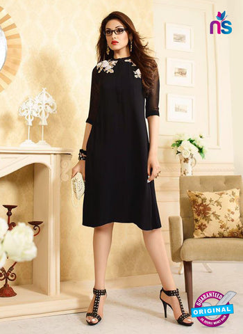 LT 403 Black Designer Fancy Exclusive Party Wear Stitched Kurti