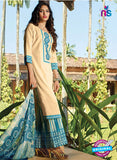 Ganga 4046 Beige and Blue  Color Cotton Designer Straight Suit