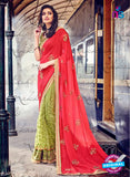 Nakkashi 4047 Green And Red Georgette Party Wear Saree