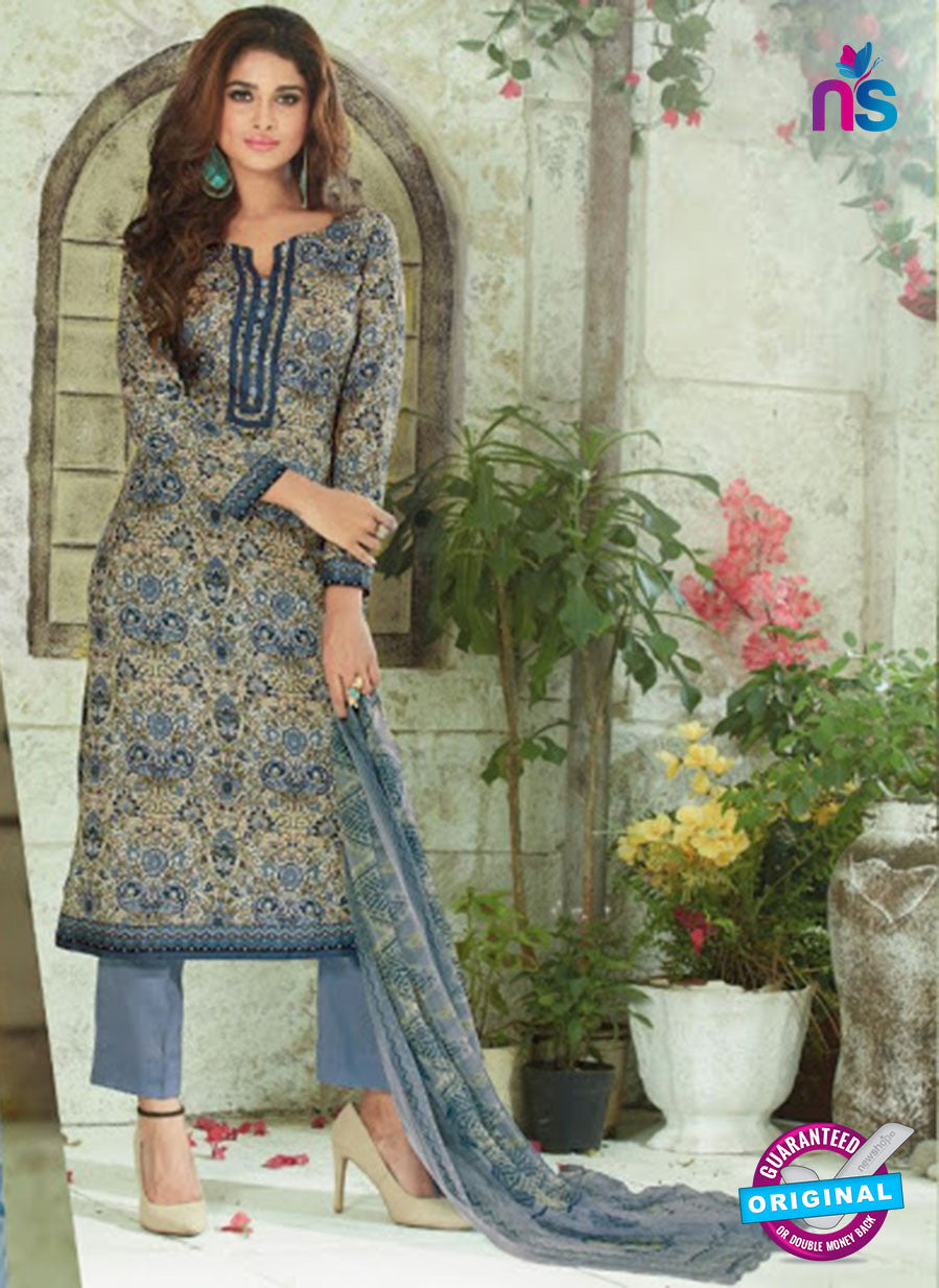 SC 13915 Multicolor and Grey Glace Cotton  Exclusive Pakistani Straight Suit