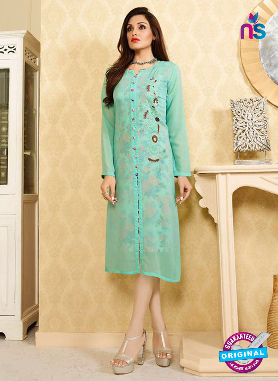 LT 404 Sea Green Designer Fancy Exclusive Party Wear Stitched Kurti