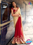 Nakkashi 4051 Red And Beige Chiffon Party Wear Saree