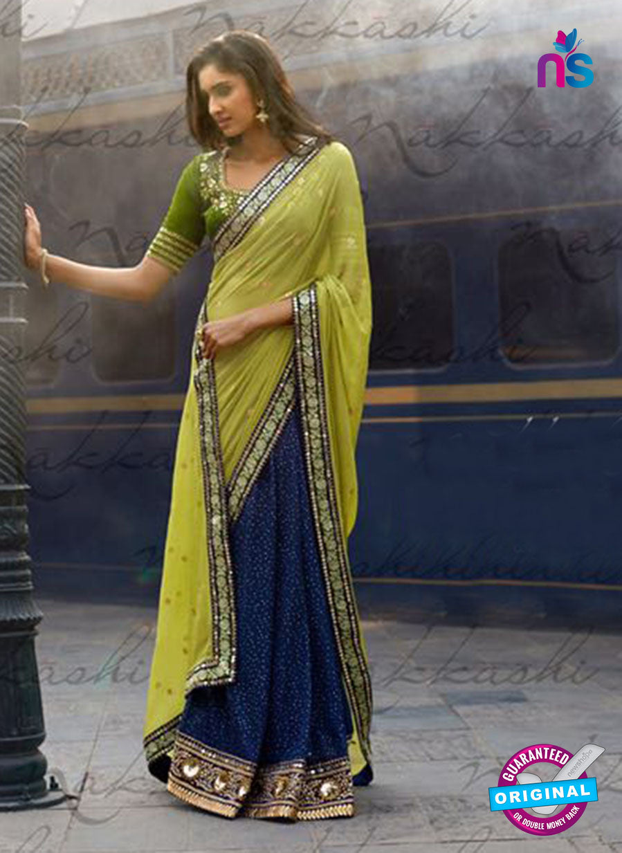 Nakkashi 4056 Green And Blue Georgette Party Wear Saree