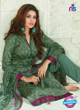 SC 13927 Green Glace Cotton Exclusive Pakistani Straight Suit