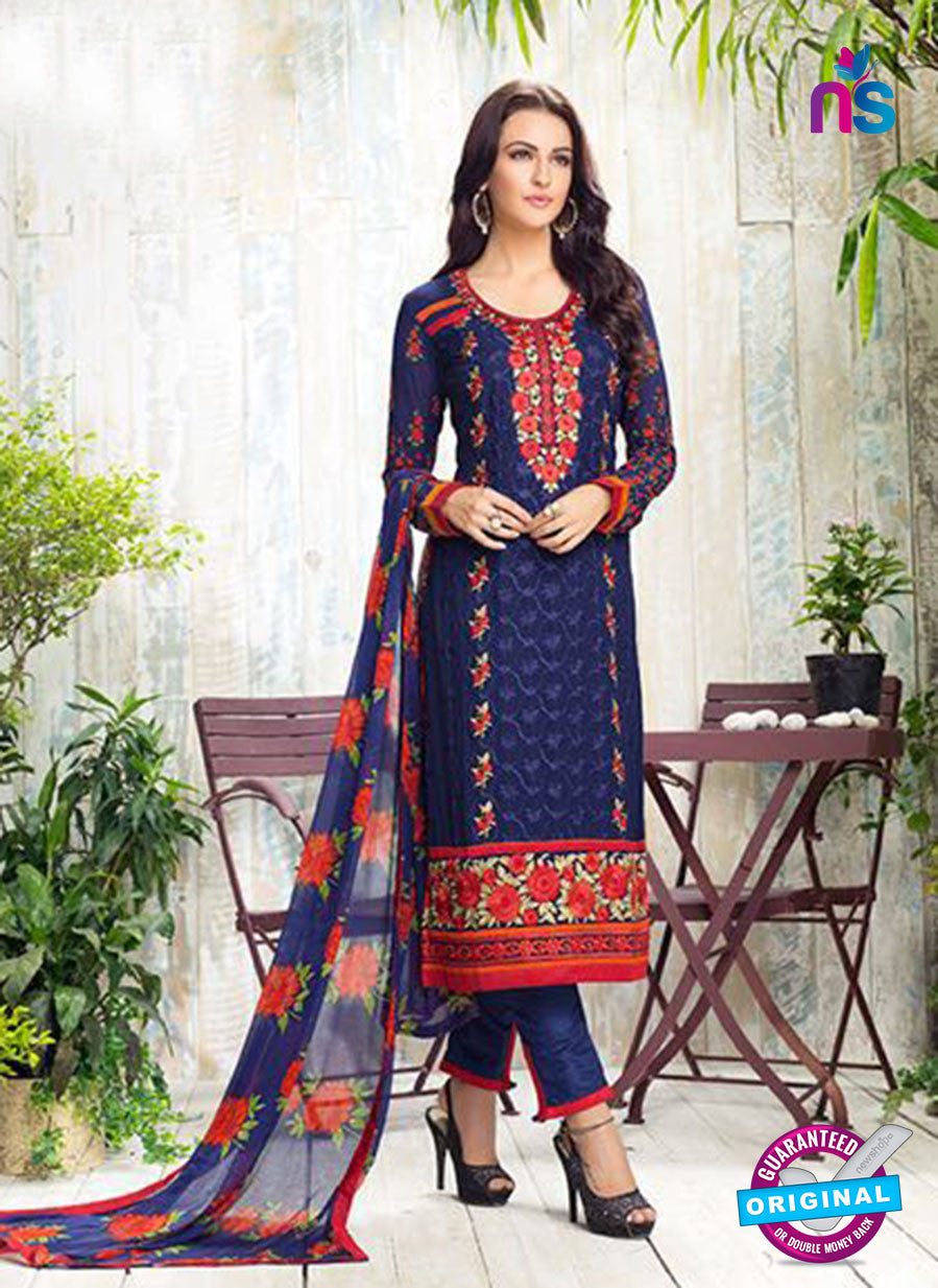 Karma 405 Blue Georgette Party Wear Suit