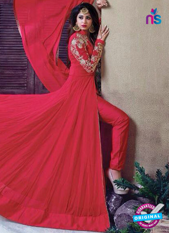 Zubeda 405 Red Indo Western Suit
