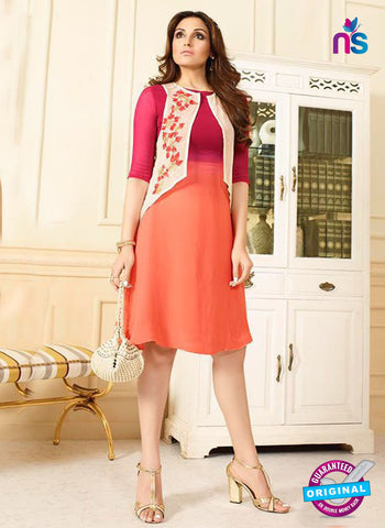 LT 405 Magenta and Orange Designer Fancy Exclusive Party Wear Stitched Kurti