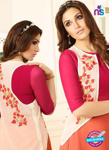 LT 405 Magenta and Orange Designer Fancy Exclusive Party Wear Stitched Kurti Online