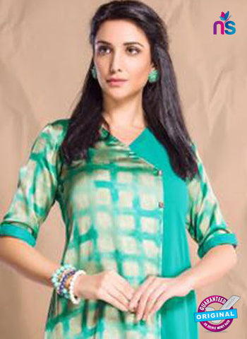 Nidhi Synthetic 405 Sea Green Designer Tunic