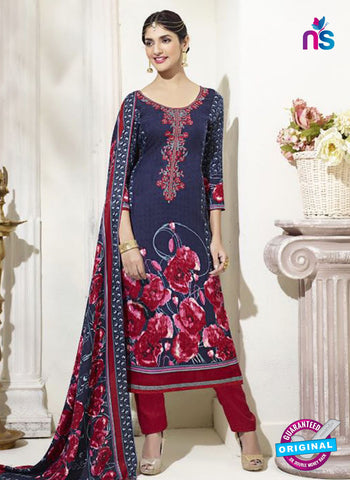 SC 14294 Blue Pashmina Patiala Suit