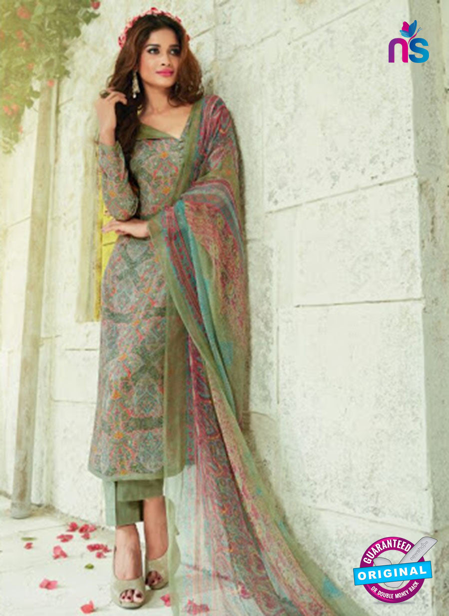 SC 13926 Green Glace Cotton Exclusive Pakistani Straight Suit