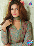 SC 13926 Green Glace Cotton Exclusive Pakistani Straight Suit Online
