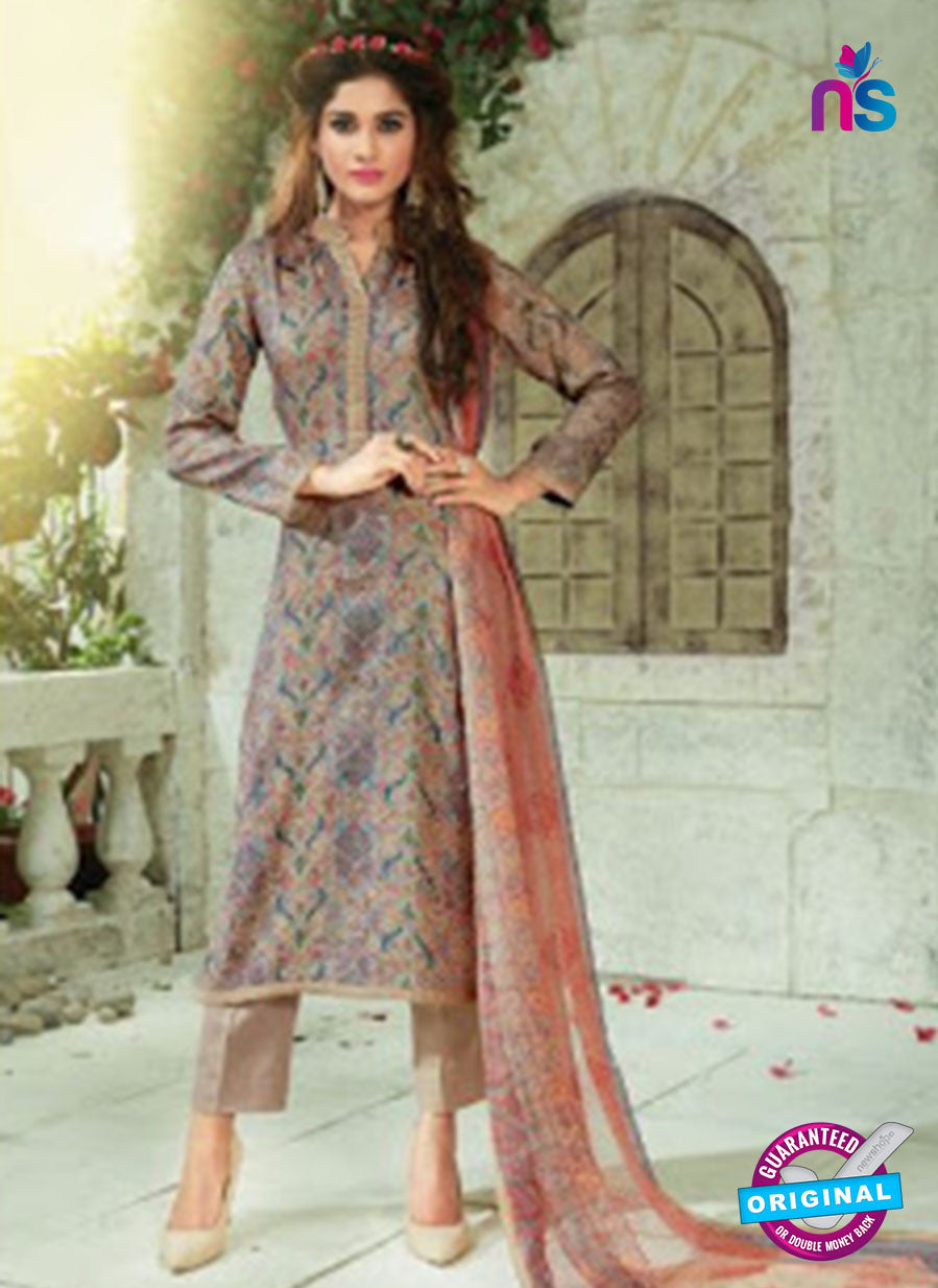 SC 13917 Multicolor Glace Cotton Exclusive Pakistani Straight Suit