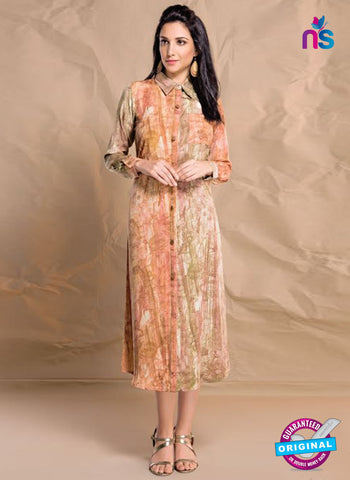 Nidhi Synthetic 406 Beige Formal Kurti