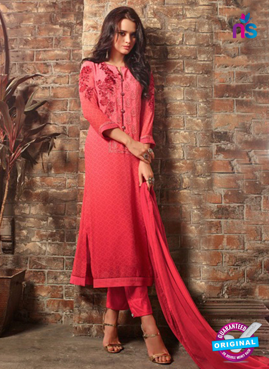 Sahiba 406 Pink and Red Georgette Plazo Suit