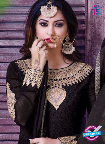 Zubeda 406 Black Anarkali Suit