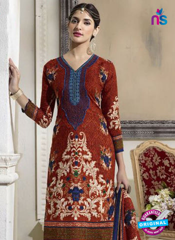 SC 14298 Brown Pashmina Patiala Suit