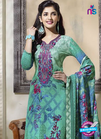SC 14301 Sea Green Pashmina Patiala Suit