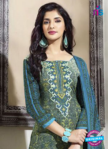 SC 14302 Blue Pashmina Patiala Suit