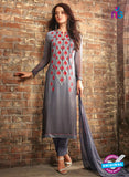 Sahiba 407 Grey Georgette Plazo Suit