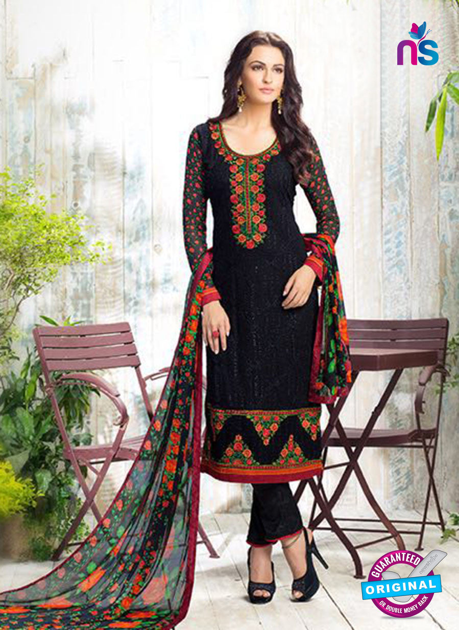 Karma 407 Black Georgette Party Wear Suit