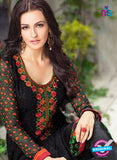 Karma 407 Black Georgette Party Wear Suit Online
