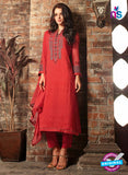 Sahiba 408 Red Georgette Plazo Suit