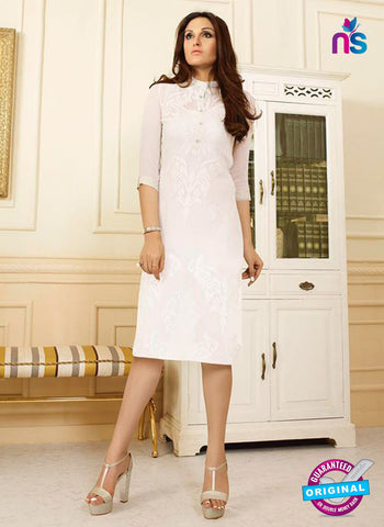 LT 408 White Designer Fancy Exclusive Party Wear Stitched Kurti