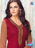 Karma 408 Maroon Georgette Party Wear Suit Online