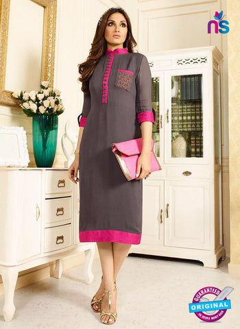 LT 409 Grey and Pink Designer Fancy Exclusive Party Wear Stitched Kurti