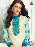 Karma 409 Beige Georgette Party Wear Suit Online