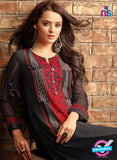 Sahiba 409 Black Georgette Plazo Suit