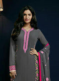 Sajawat 41001 Grey Semi Georgette Party Wear Suit Online