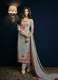 Sajawat 41004 Grey Semi Georgette Party Wear Suit