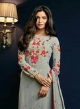 Sajawat 41004 Grey Semi Georgette Party Wear Suit Online